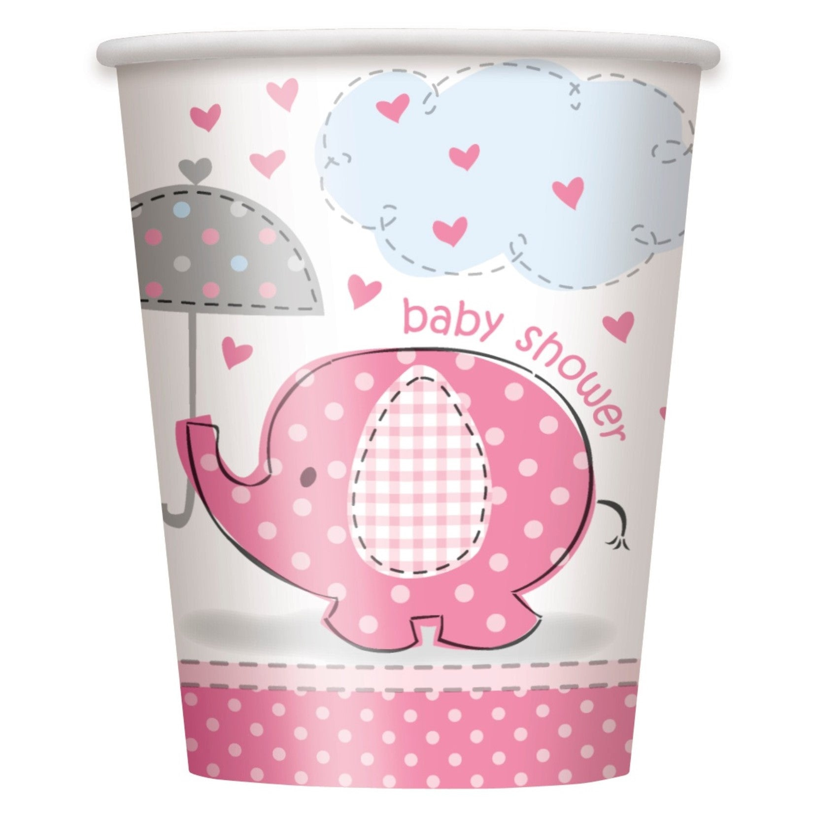 Pink Umbrellaphant Cups - Uk Baby Shower Co ltd