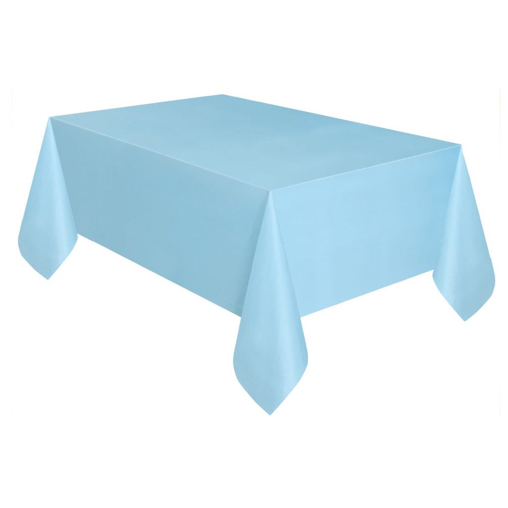 Plain Powder Blue Tablecover,[product type] - Baby Showers and More