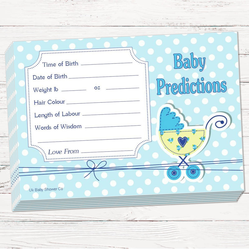 Polka Prediction Cards Keepsake Game,[product type] - Baby Showers and More