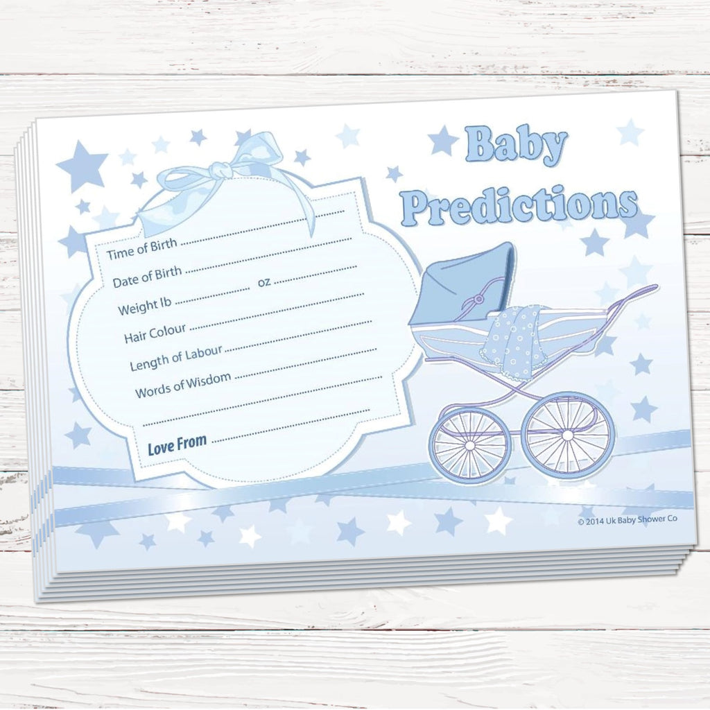 Stars Prediction Cards Keepsake Game - Uk Baby Shower Co ltd