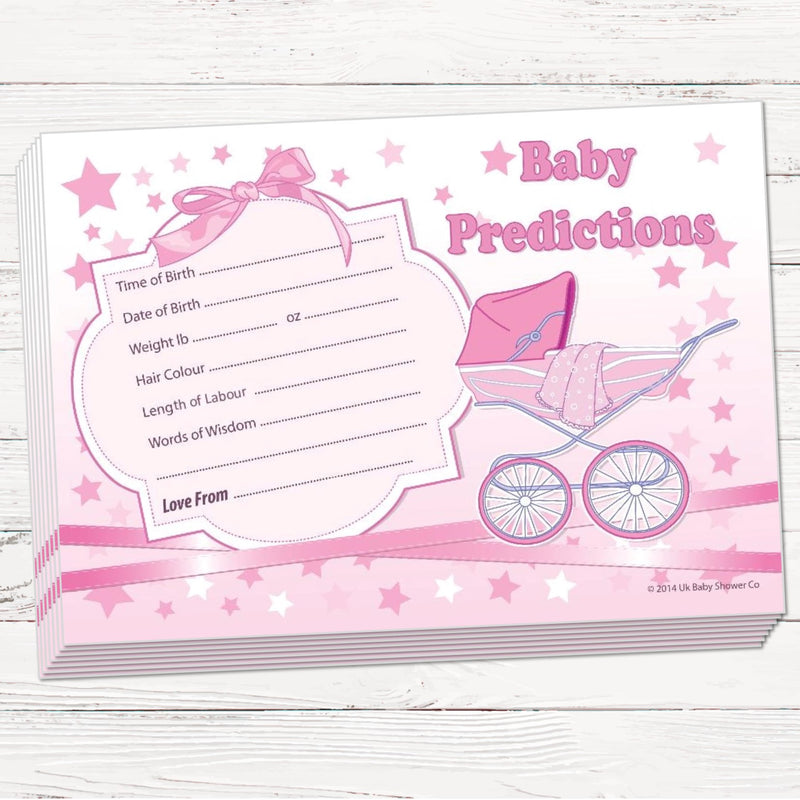 Prediction Cards Keepsake Game Stars Theme,[product type] - Baby Showers and More