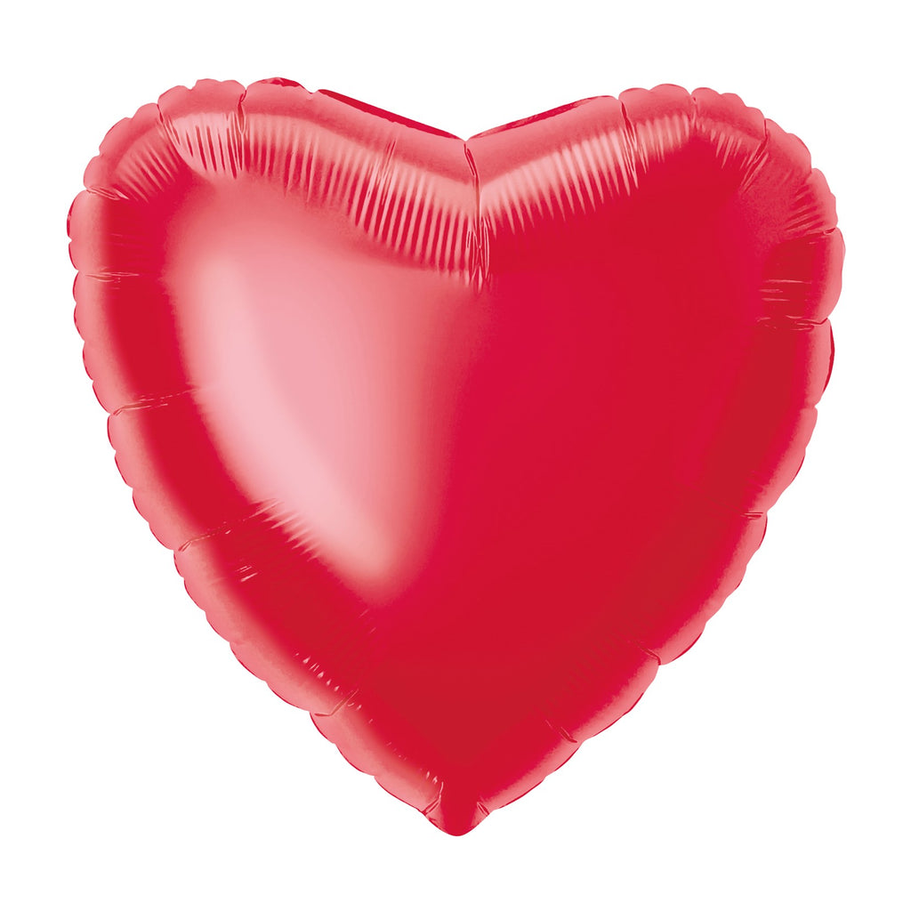 Red Heart-Shaped Foil Balloon INFLATED