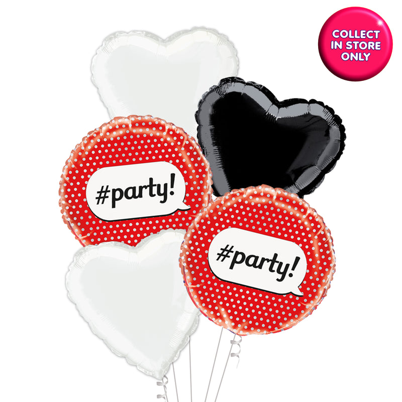 Red Polka #Party Birthday Girl Balloon - Helium Inflated