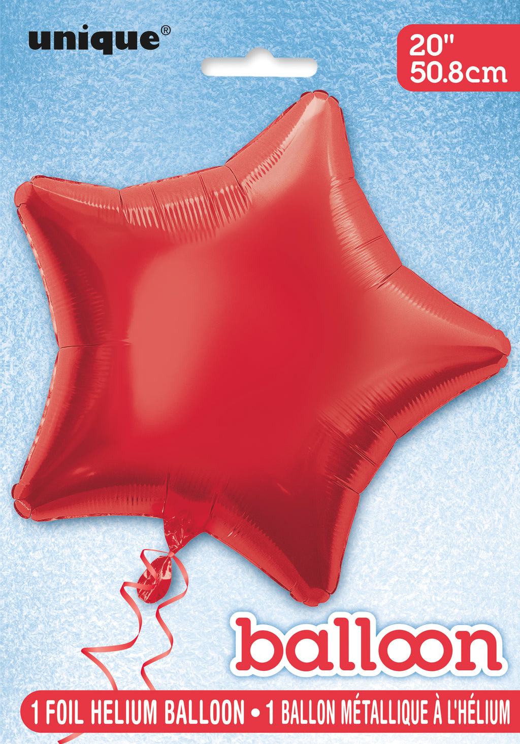 Red Star Foil Balloon INFLATED
