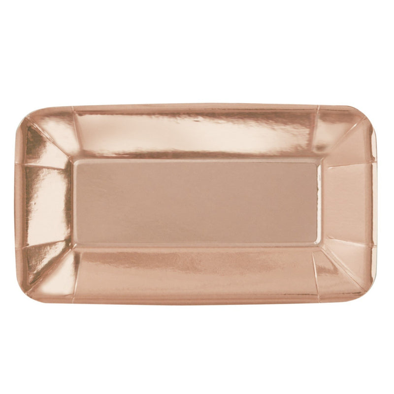 Rose Gold Foil Appetiser Plates Large