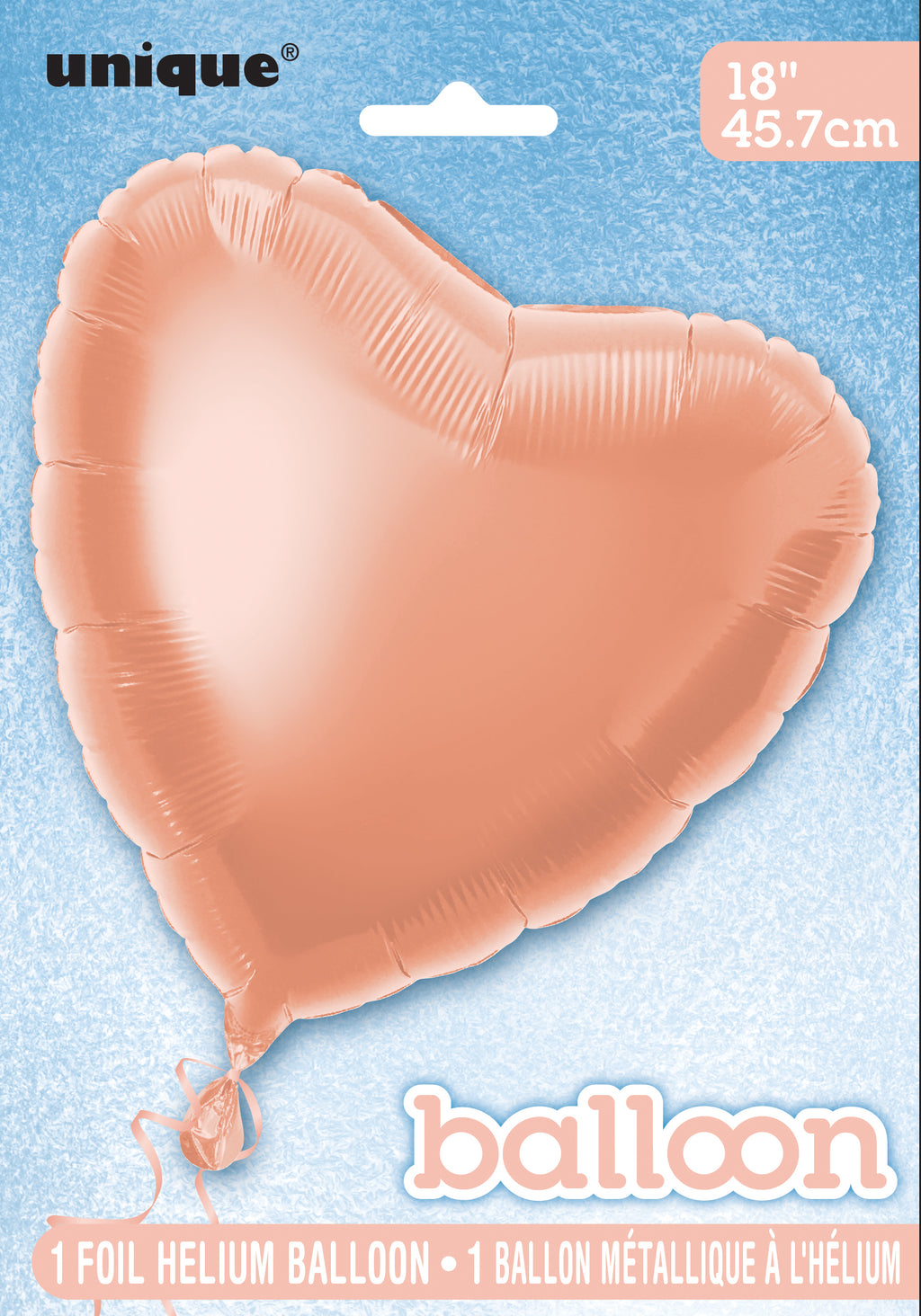 Rose Gold Heart-Shaped Foil Balloon INFLATED