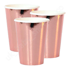 Rose Gold Foil Effect Paper Cups - Uk Baby Shower Co ltd