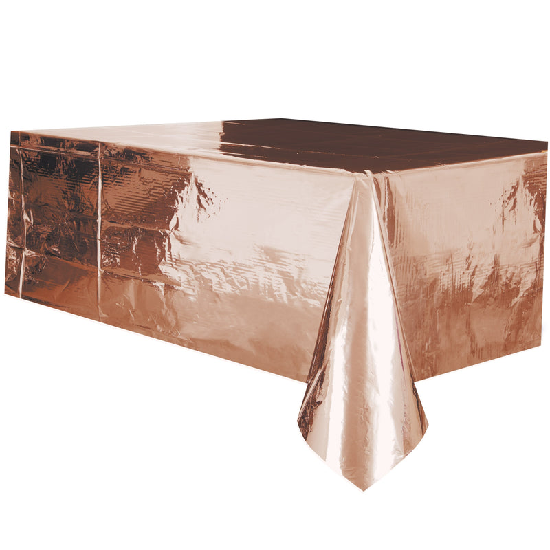 Rose Gold Foil Tablecover - Uk Baby Shower Co ltd