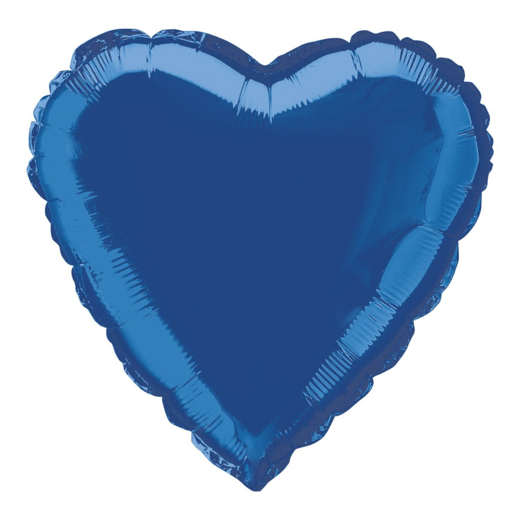 Royal Blue Heart-Shaped Foil Balloon INFLATED