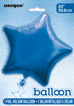 Royal Blue Star Foil Balloon INFLATED
