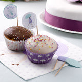 Showered With love Cupcake Picks - CLEARANCE - Uk Baby Shower Co ltd
