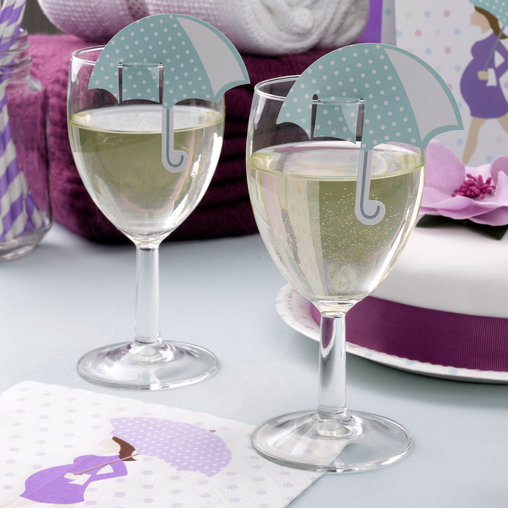 Glass Decorations: Showered With Love Glass Decoration - CLEARANCE