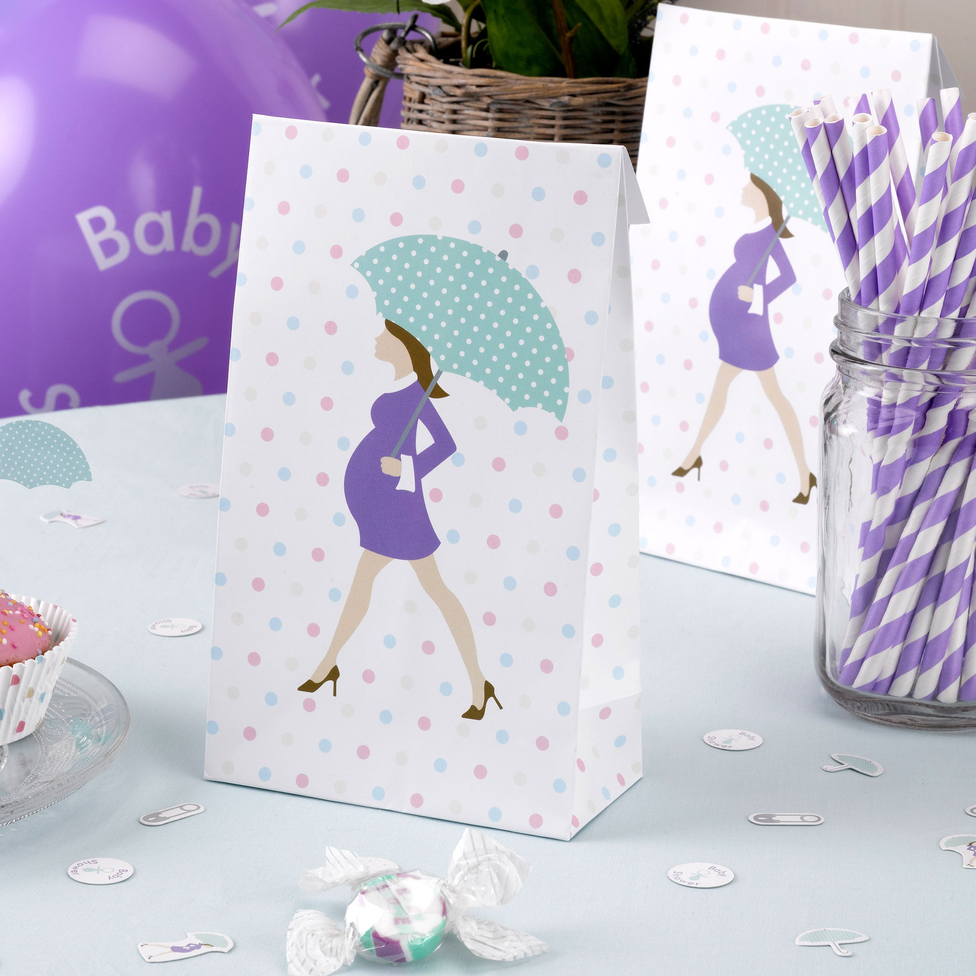 Showered With Love Party Bags - Uk Baby Shower Co ltd