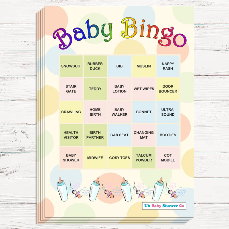 Pastel Baby Bingo Game,[product type] - Baby Showers and More