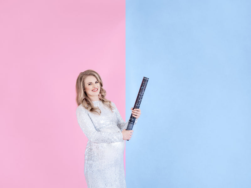 Gender Reveal Giant Confetti Cannon - BLUE - Uk Baby Shower Co ltd