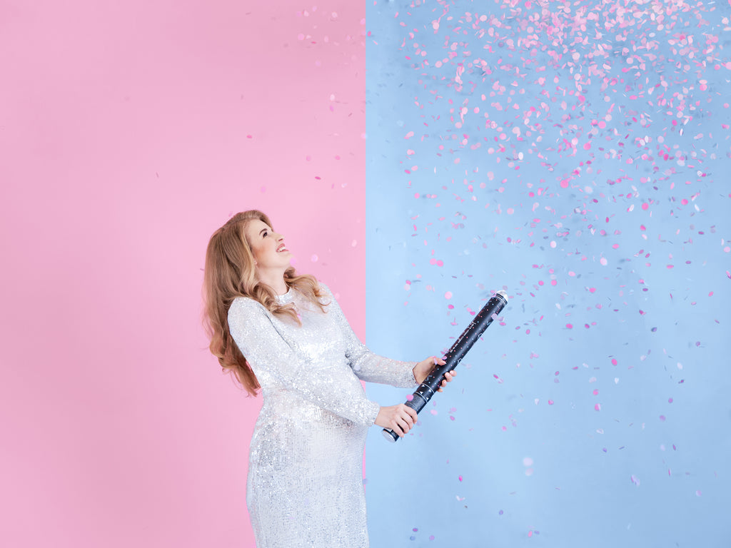 Gender Reveal Giant Confetti Cannon - PINK - Uk Baby Shower Co ltd
