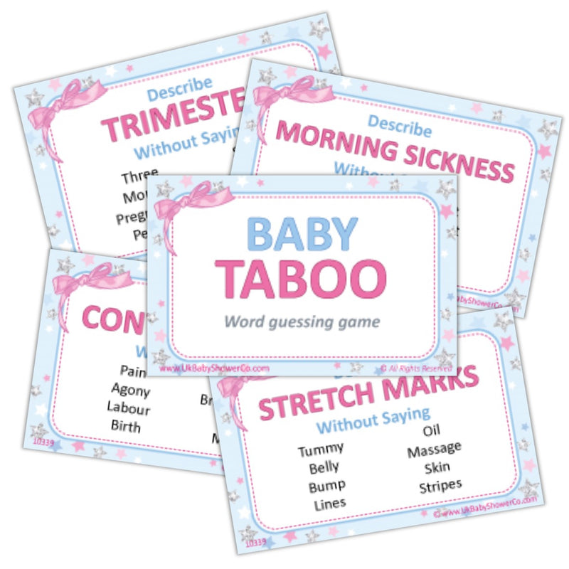 Baby Shower Taboo Game - Uk Baby Shower Co ltd