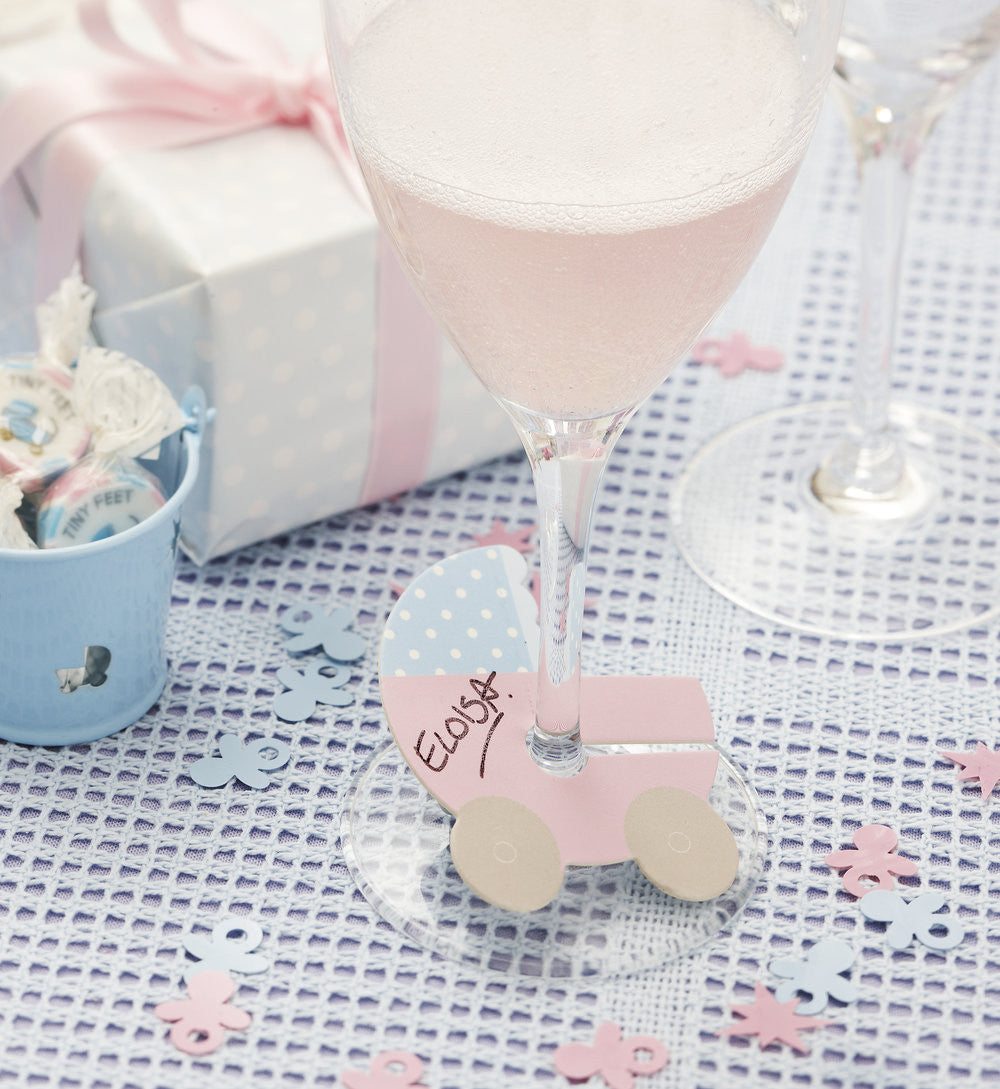 Tiny Feet Glass Markers - Uk Baby Shower Co ltd