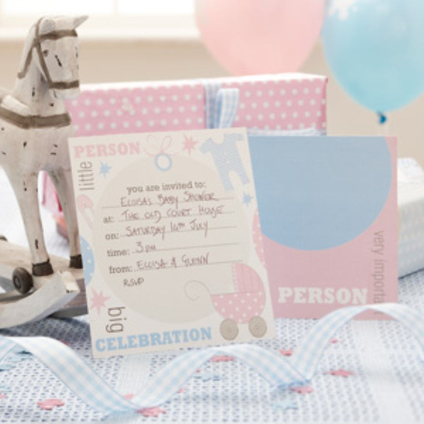 Tiny Feet Invitations,[product type] - Baby Showers and More