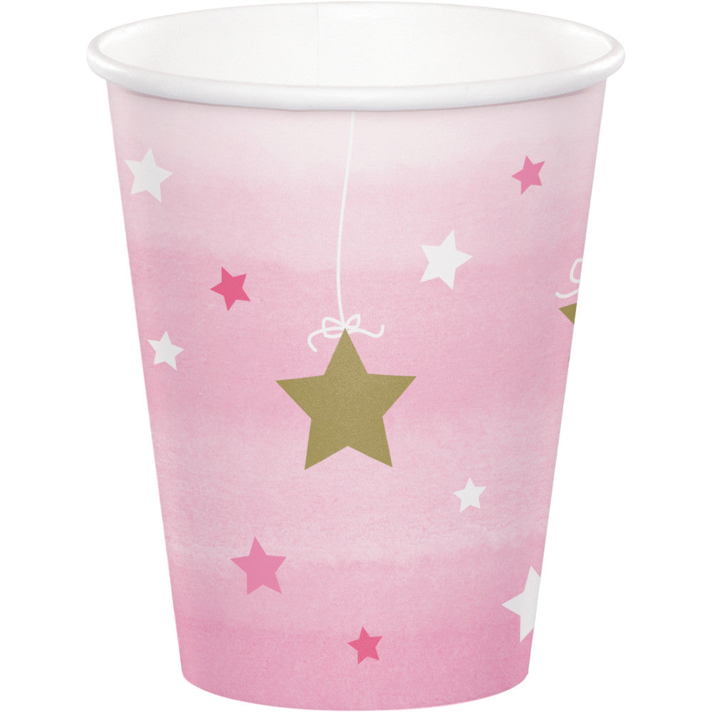 Twinkle Little Star Pink Cups,[product type] - Baby Showers and More