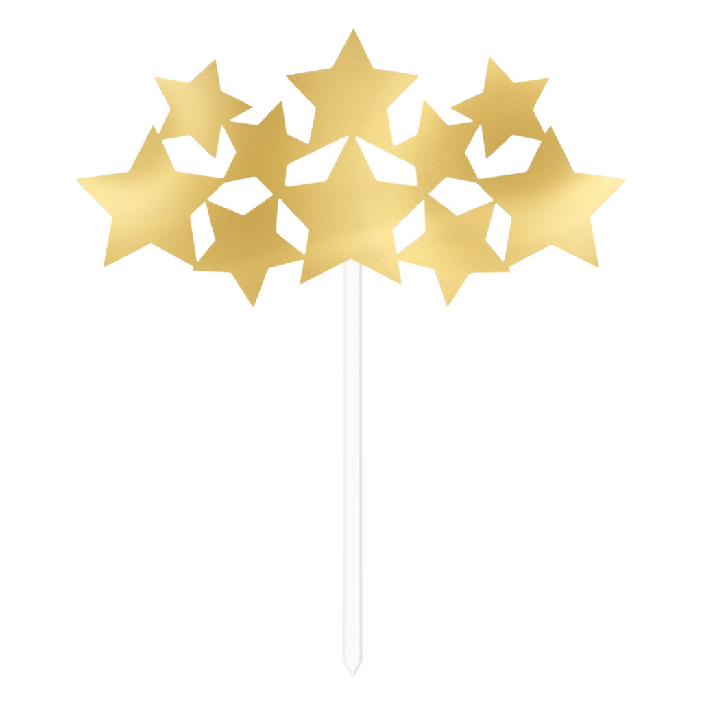 Twinkle Little Star Gold Cake Topper - Uk Baby Shower Co ltd