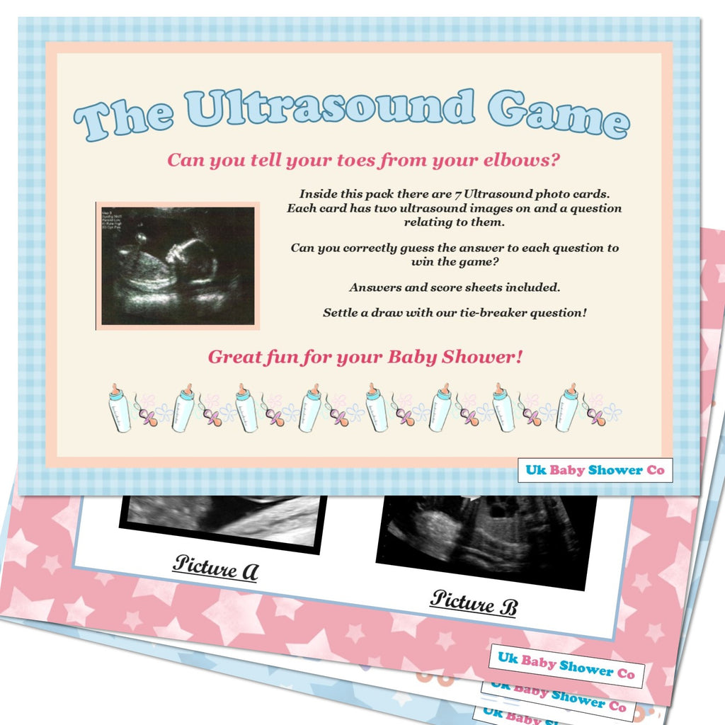 The Ultrasound Game Pastel Theme,[product type] - Baby Showers and More