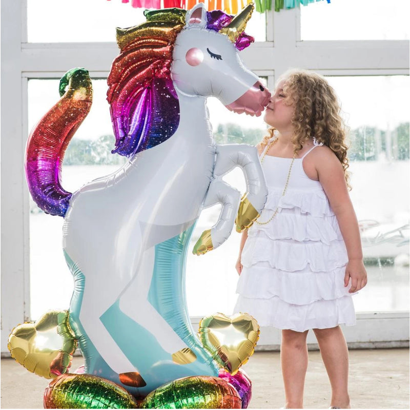 "Unicorn Giant Standing 55"" Balloon by Airloonz"