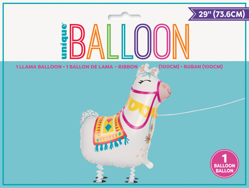 Walking Pet Llama Balloon INFLATED