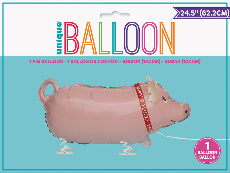 Walking Pet Pig Balloon INFLATED