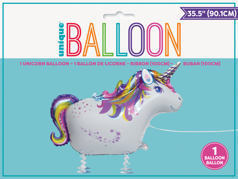 Walking Pet Unicorn Balloon INFLATED