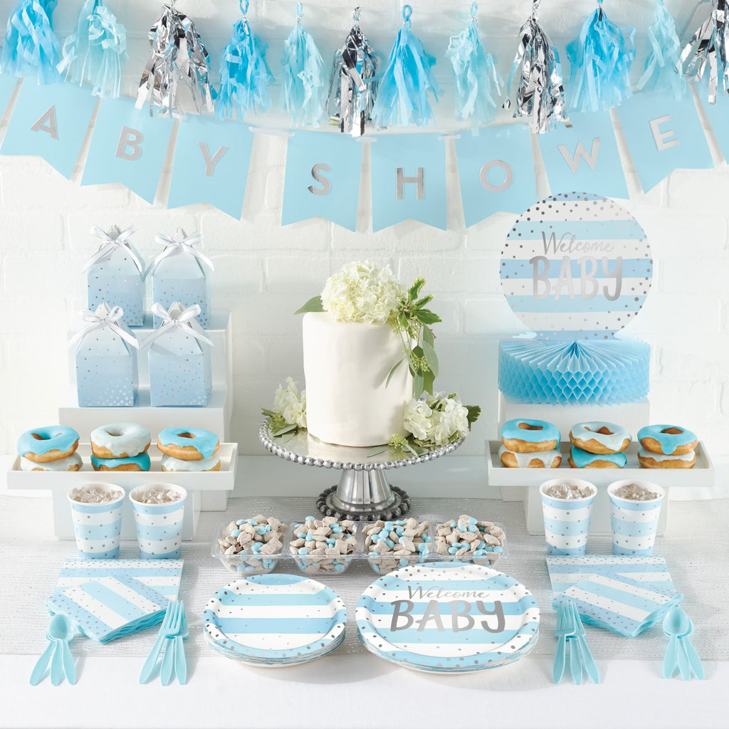 Welcome Baby Boy Honeycomb Centrepiece