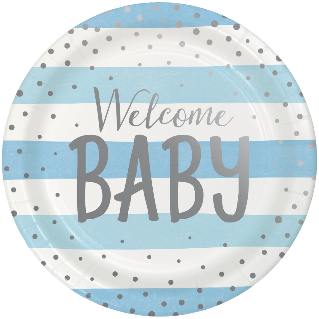 Welcome Baby Boy Dinner Plates