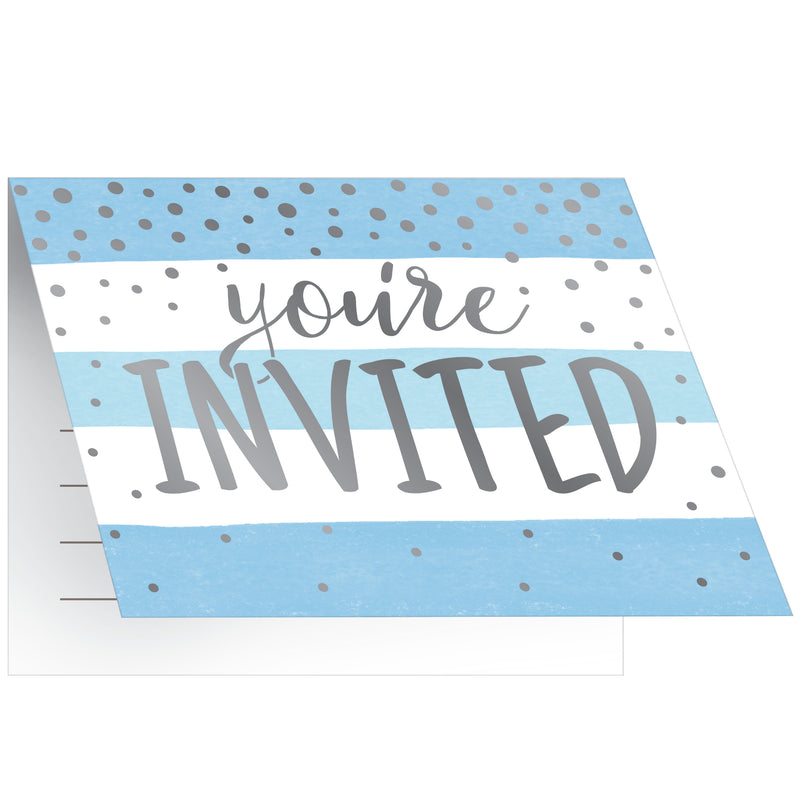 Welcome Baby Boy Invitations