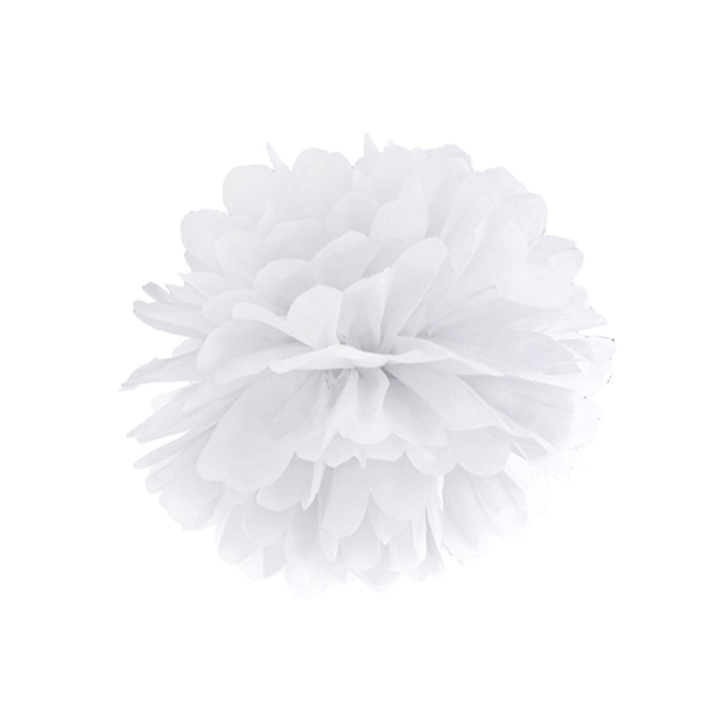 White Puff Ball - Medium Size - Uk Baby Shower Co ltd