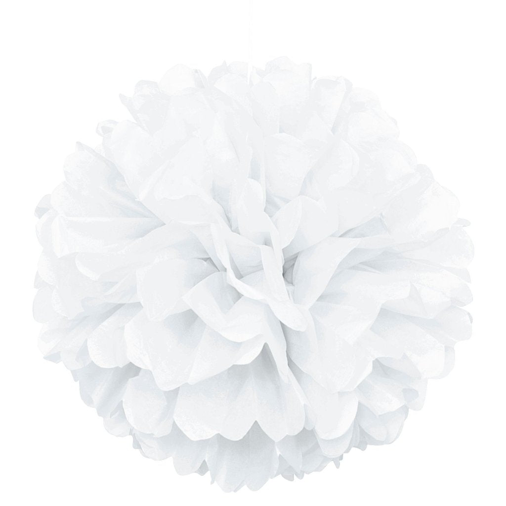 White Puff Ball - Large Size - Uk Baby Shower Co ltd