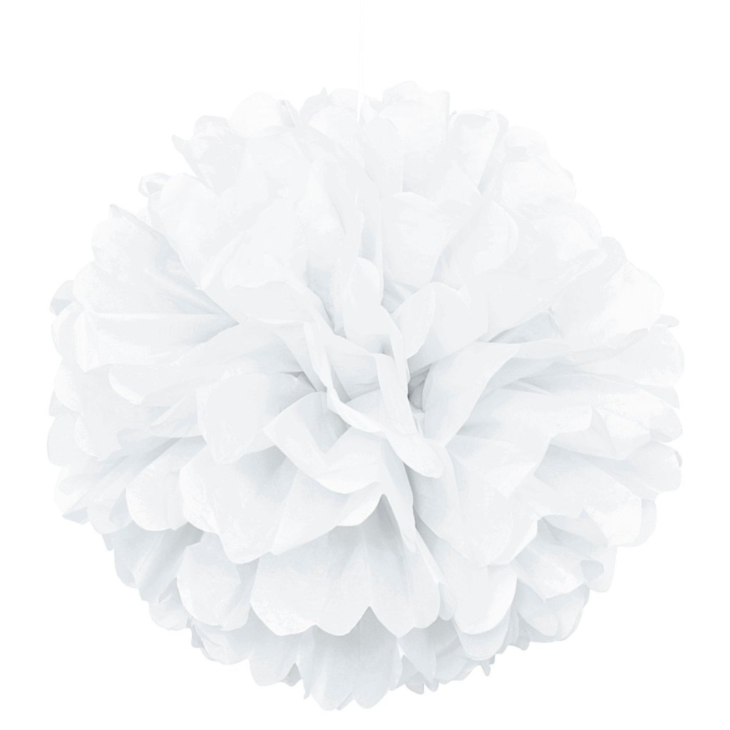 White Puff Ball 40cm,[product type] - Baby Showers and More