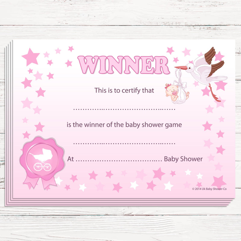 Winners Certificates Stars Theme,[product type] - Baby Showers and More