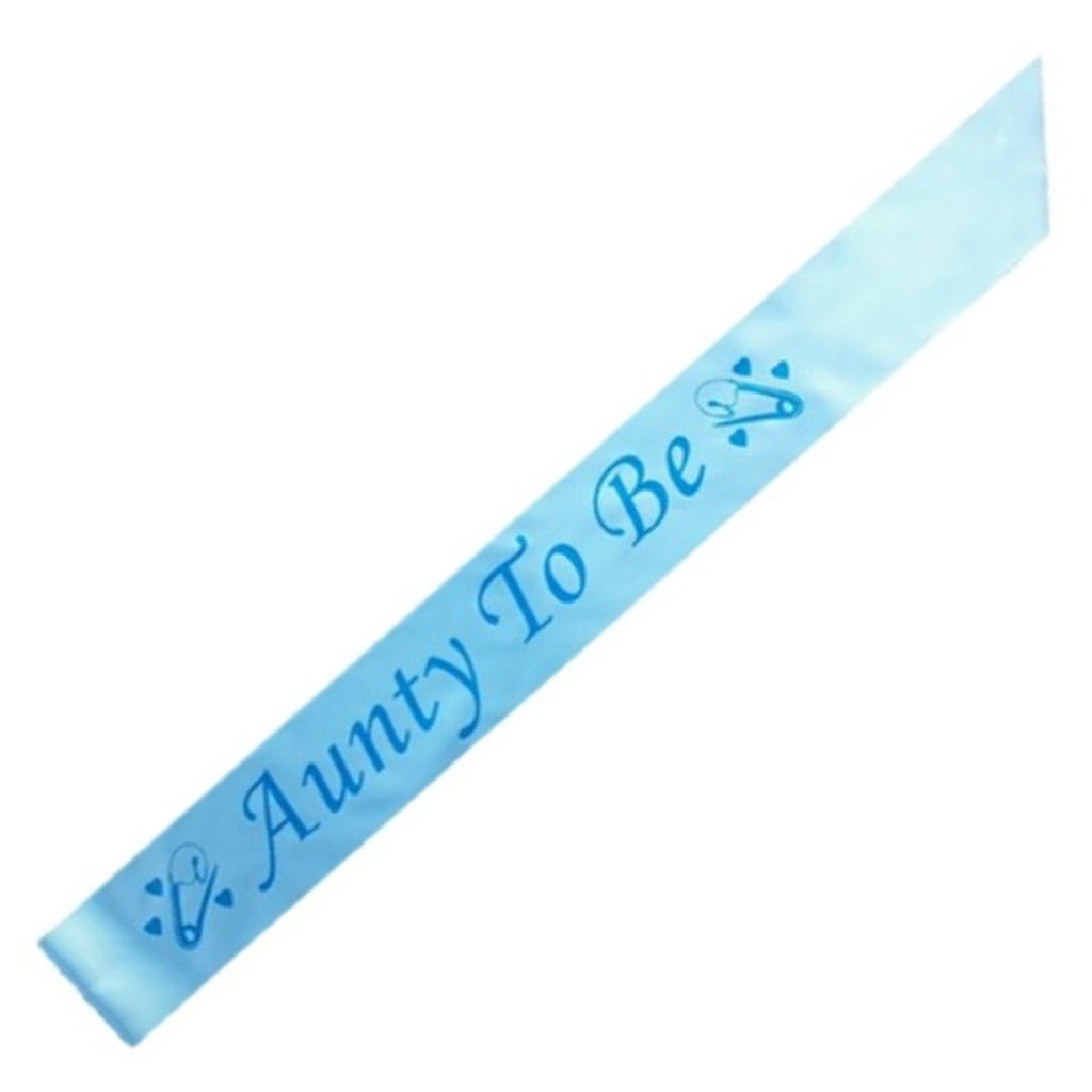 Aunty To Be party sash,[product type] - Baby Showers and More