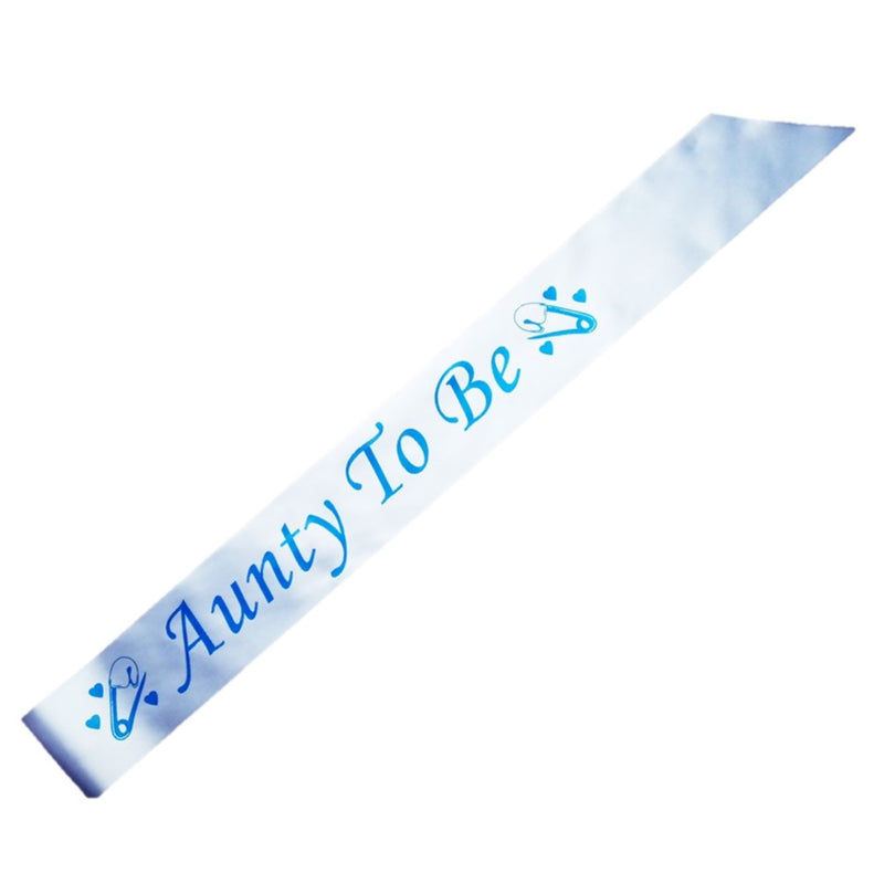 Aunty To Be party sash - CLEARANCE - Uk Baby Shower Co ltd