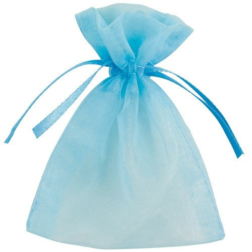 Organza Bags Blue,[product type] - Baby Showers and More