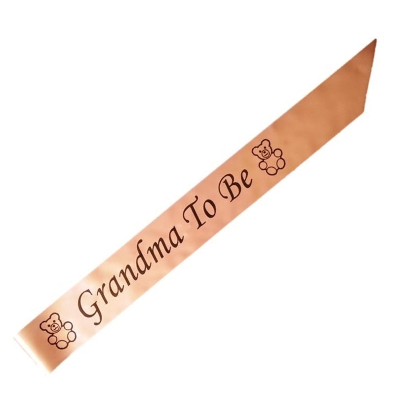 Grandma To Be party sash - CLEARANCE - Uk Baby Shower Co ltd
