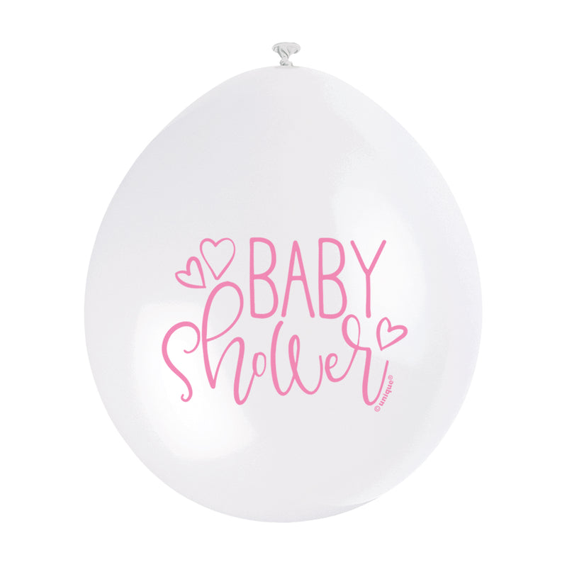 Baby Shower Hanging Balloons Pink - Uk Baby Shower Co ltd