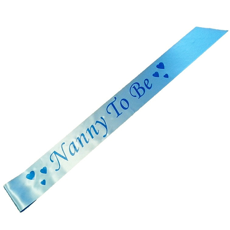 Nanny To Be party sash,[product type] - Baby Showers and More