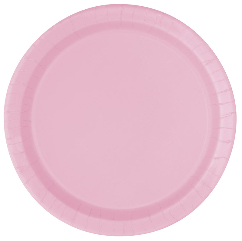 Pink Buffet Plates 22cm - Uk Baby Shower Co ltd