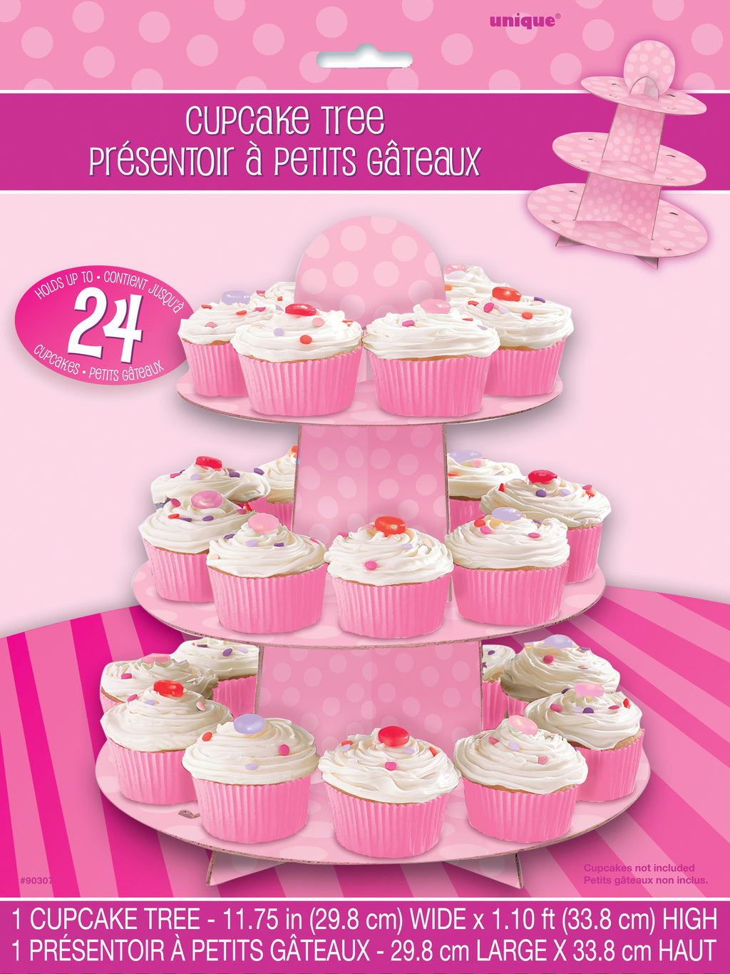 Pink Spotty Cupcake Stand,[product type] - Baby Showers and More