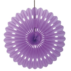 Purple Decorative Fan - CLEARANCE - Uk Baby Shower Co ltd