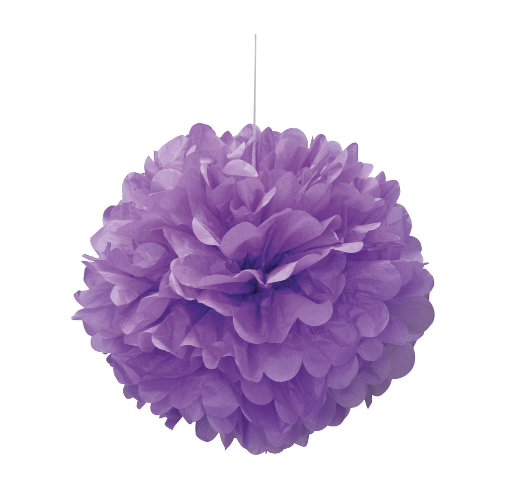 Purple Puff Ball 40cm,[product type] - Baby Showers and More