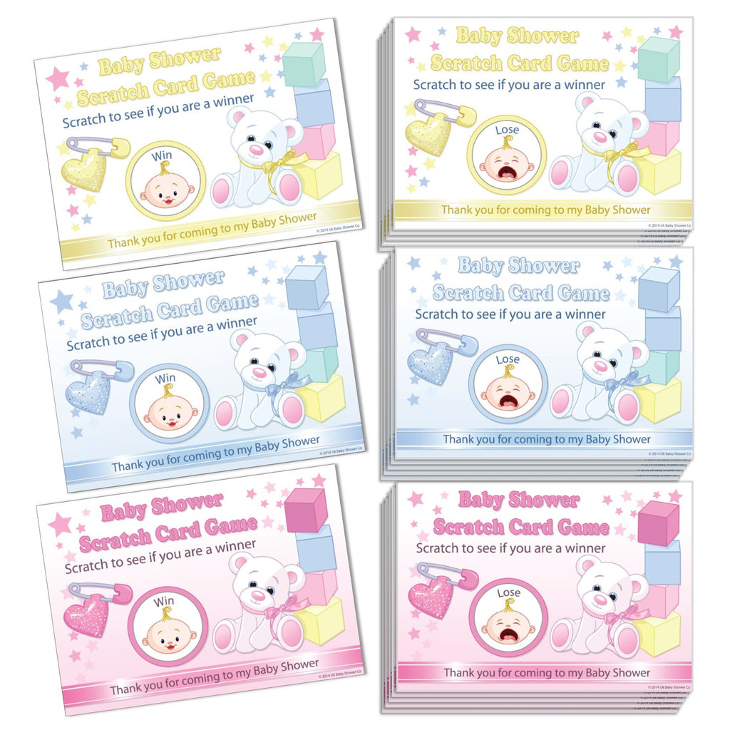 Stars Scratchcards Game - Uk Baby Shower Co ltd