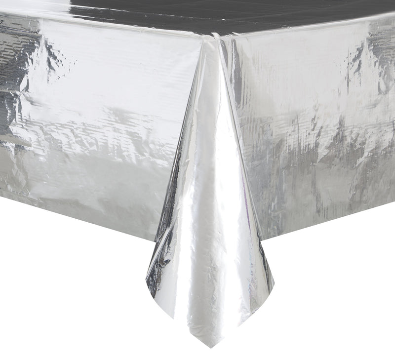 Silver Foil Tablecover - Uk Baby Shower Co ltd