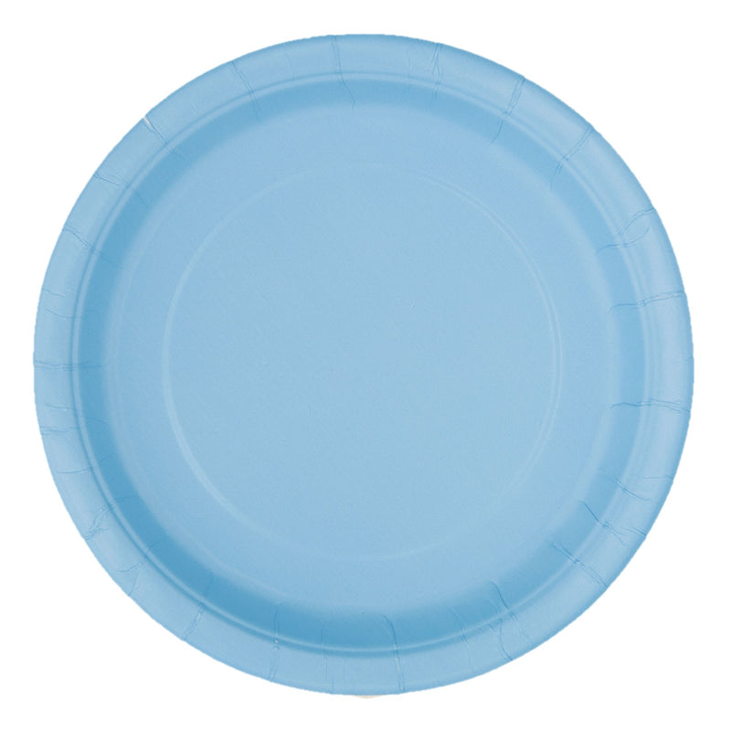 Blue Side Plates 17cm - Uk Baby Shower Co ltd